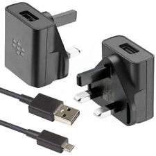 BLACKBERRY ASY-58929-003 1.3A FAST MAINS CHARGER PLUG + MICRO USB DATA CABLE NEW