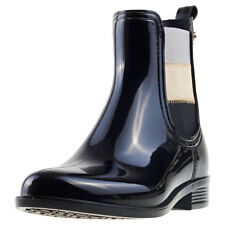 Womens Tommy Hilfiger Odette 16v2 Synthetic Black Shoes Wellington Boots Casual