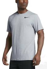 NIKE UOMO DRIFIT CASUAL TRAINING T-SHIRT NIKE BREATHE TOP SS GRIGIO