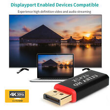 4K Display Port to HDMI Male Female Adapter Converter DisplayPort DP to HDMI NEW