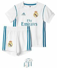 SPORTIVO adidas Real Madrid Home Neonato Kit 2017 2018 White/Teal