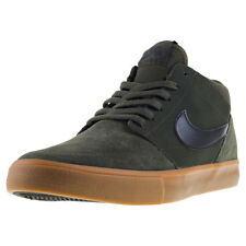 Mens Nike SB Portmore Ii Solar Mid Suede & Synthetic Olive Shoes Trainers