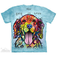 (3440) The Mountain T-Shirt Shirt DOG IS LOVE by Russo Goldie Golden Retriever