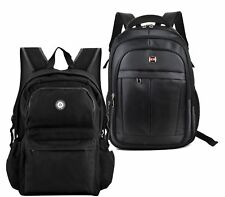 LADIES RUCKSACK RETRO OXFORD BLACK TRAVEL LAPTOP BACKPACK ZIP SCHOOL HIKING BAG