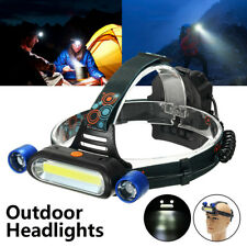 10W LED COB USB Ricaricabile Torcia Flashlight Headlight Outdoor Campeggio