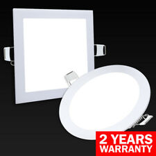 12W LED Round or Square Recessed Ceiling Panel Down Light Ultra Slim Cool White