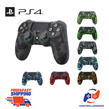 Camouflage Extra Grip Silicone Rubber Case Cover Skin for PS4 Controller