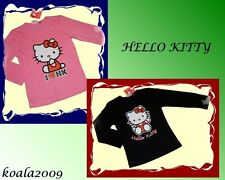 MAILLOT MANCHES LONGUES HELLO KITTY chemise 116-164 2 couleurs NEUF
