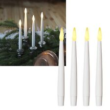 4 SET DE VELAS LED 150x 15mm CENTELLEANTE, SIN LLAMA INTERMITENTE varilla