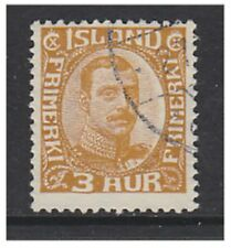 Iceland - 1920, 3a King Christian X stamp - Used - SG 117