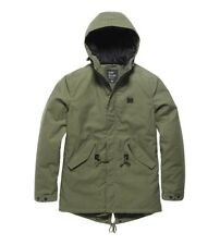 VINTAGE WALLBROOK Parka Giacca invernale Uomo Foderato verde oliva NUOVO