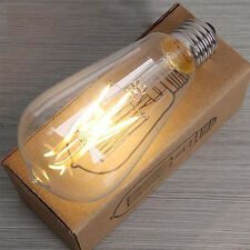 E27 Regulable 2-8w Edison Retro Vintage Filamento ST64 COB Bombilla LED lámpara