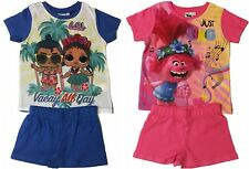 Girls Trolls Short Summer Pyjamas Pjs Ages 3 to 10 Years