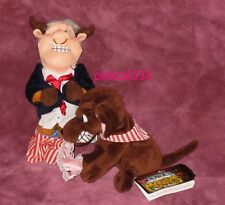 INFAMOUS MEANIES PLUSH 1998 PAIR~Bull Clinton & Buddy The Dog~PINK UNDIES~NWT