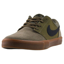 Mens Nike SB Portmore Ii Solar Suede & Synthetic Olive Black Shoes Trainers