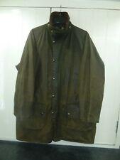 "Men's Olive Green Waxed Cotton Gamefair Jacket by Barbour Size 42"" 107cm"