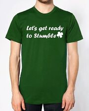 Let's Get Ready To Stumble T Shirt St Patrick's Day Party Drunk Group Irish