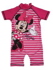 Minnie Mouse Disney Girls Sunsuit Swimsuit Swimming Costume Ages 1.5 to 5 Years