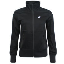 Nike Womens Zip Up Black Cotton Football Training Jacket 452624 010 M8