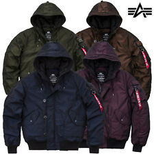 ALPHA INDUSTRIES giacca invernale uomo HUNTER LL BOMBER S M L XL XXL 3XL NUOVO