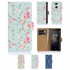 32nd Floral Series - PU Leather Book Wallet Case Cover For Sony Xperia XA2