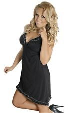 Donna Negligee chemise abito babydoll lingerie VARIE MISURE NERO CAMICETTA