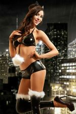 sexy wetlook COSTUME ENSEMBLE GOGO CHAT LINGERIE LINGERIE DE NUIT S M L XL