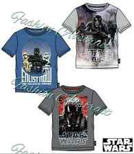 Boys Official Licensed Star Wars Summer Short Sleeve T Tee Shirt Top 6-12 Years