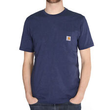 Carhartt WIP Pocket T-Shirt Blue Heather Herren Shirt mit Brusttasche Navy Blau