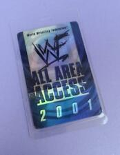 WWF World Wrestling Federation All Areas Access Backstage Pass 2001