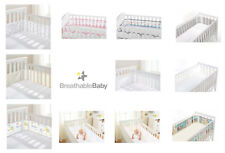 Cot Mesh Liner Breathable Baby Airflow Crib Bumper 2 or 4 Sided Breathablebaby