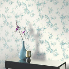 Arthouse Chinoise Floral Birds Opera Heavyweight Wallpaper Teal 425003