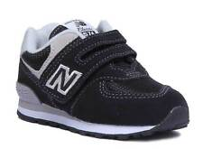 New Balance IV574GK Infants Suede Leather Black Grey Trainers