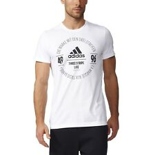 adidas Performance Homme Fitness, loisirs coton Logo T-Shirt Blanc
