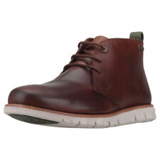 Mens Barbour Burghley Leather Chestnut Branded Footwear Shoes Chukka Boots