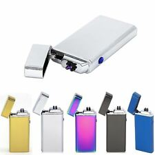 Electronic Dual Arc USB Rechargeable Cigarette Metal Flameless Lighter Windproof