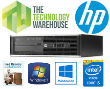 HP 8200 ELITE SFF PC - i5-2400 3.1GHZ CPU, 8GB RAM, 500GB HD, WINDOWS 7 or 10