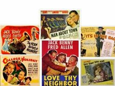 Jack Benny 13 Movies to Choose From ~ Drop Down Menu ~ Classic Rare Comedies