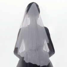 Two Layer White Cathedral Bridal Lace Applique Wedding Veil Elbow Bridal Veils