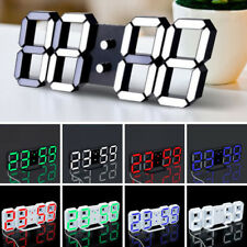 Moderno Digital Led Escritorio Noche Reloj de pared ALARMA 24 or 12-hour DISPLAY