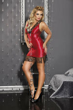 Satin Negligee chemise Biancheria Sexy Da Notte taglie extra large rosso