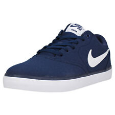 Mens Nike SB Check Solar Canvas Navy White Branded Footwear Shoes Trainers