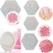 3D Flowers Frame Mat Silicone Mold Cake Border Decorating Sugarcraft Clay Mould