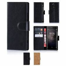 32nd Premium Series - Real Leather Book Wallet Case Cover For Sony Xperia XA2