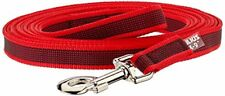 Julius-k9 Color And Gray Super-grip Leash With Handle, 20 Mm X 5 M, Red-gray By