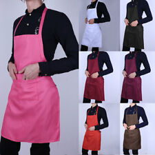 Plain Apron with Front Pocket for Chefs Butcher Kitchen Cooking Baking Craft