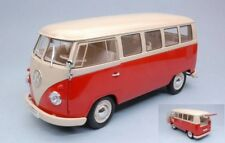 Welly WE18054R VW T1 BUS RED W/CREAM ROOF 1:18 Modellino