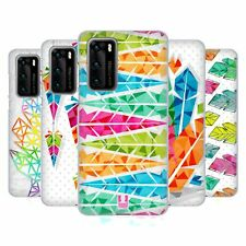 HEAD CASE DESIGNS GEOMETRIC FEATHERS SOFT GEL CASE FOR HUAWEI PHONES