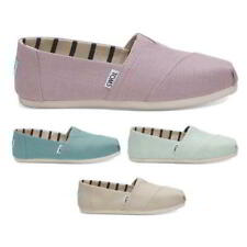 Toms Classic Espadrilles Womens Blue Green Purple Beige Canvas Slip On Size 4-8