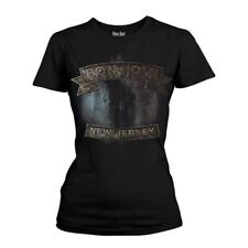 Official Women's Bon Jovi New Jersey Cover Album Fitted T-Shirt  Various Sizes